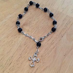 Jewelry - Black Rosary Bracelet